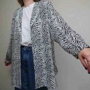 Vintage 80's zebra print overshirt